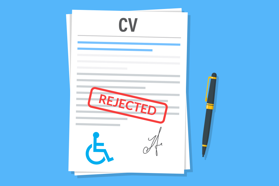 Candidate rejected for 100 roles after disclosing disability