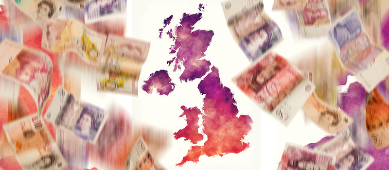 Which UK locations have seen the biggest boost in pay this year?