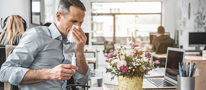 Nine out of ten employees came into work sick last year