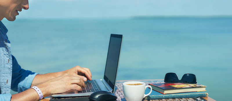 What is the top destination for working abroad remotely?
