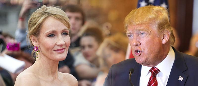 Political Punch Up: JK Rowling vs Donald Trump
