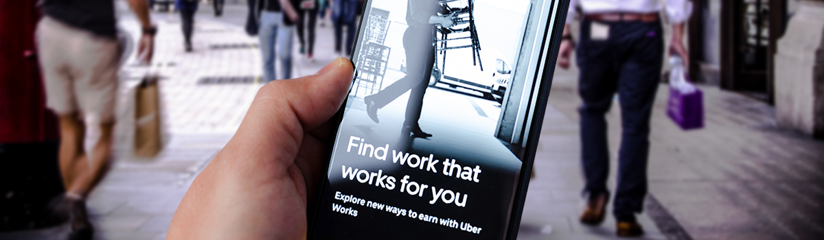 Uber backs casual workers with job app