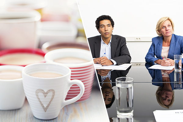 The life of an average employee: 1 office romance, 2 bad bosses, and nearly 30,000 cuppas