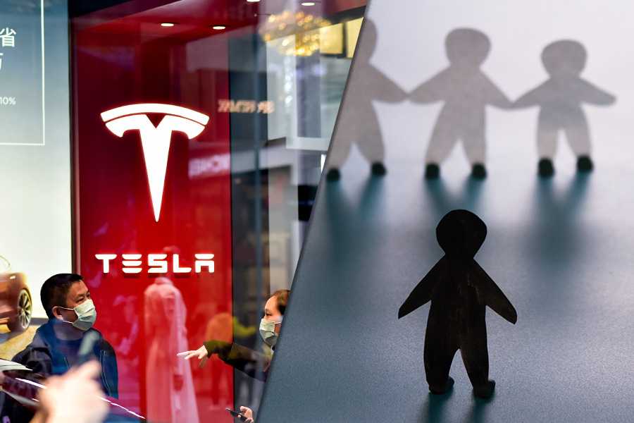Tesla HR boss HITS BACK online after firm's £100m racial abuse payout
