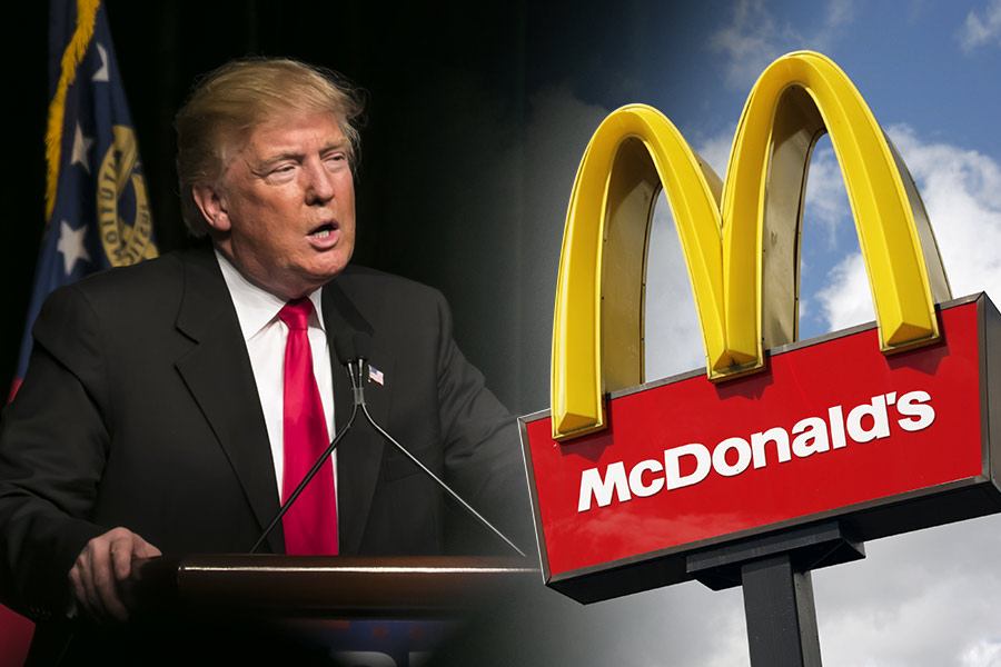 Political Punch-up: McDonald's vs Donald Trump