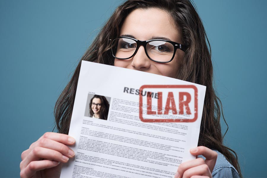 Almost half of candidates lie on their CV