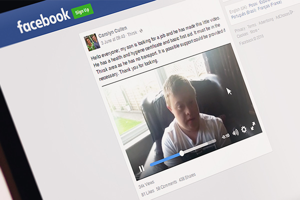 Disabled candidate's Facebook plea for job goes viral