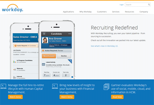Workday enters recruitment market