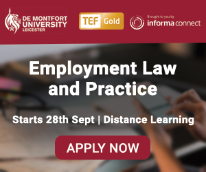 Online Postgraduate Certificate, Diploma or LLM in Employment Law and Practice