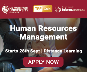 Online MA, Postgraduate Diploma or Postgraduate Certificate in Human Resource Management