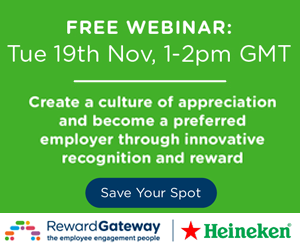 Webinar: Create a culture of appreciation and become a preferred employer through innovative recognition and reward