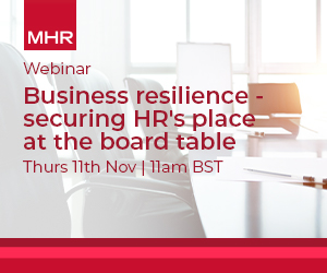 Business resilience - securing HR's place at the board table